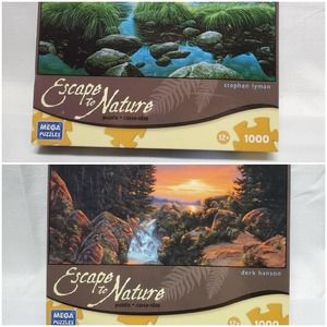 Two 1000 Piece Nature Puzzles New